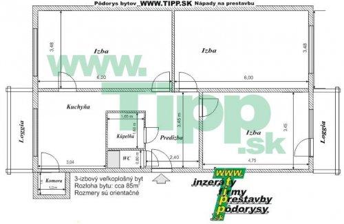 3 izzbový byt s 2 balkonmy l 2x6MK pôdorys.JPG