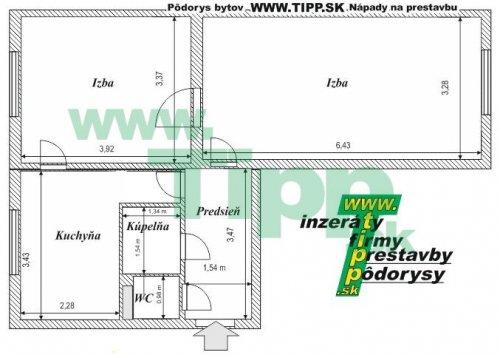 2-izbový tehlový byt s veľkou izbou.JPG