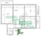 3-izbový byt 12 poschodový vežiak pôdorys P