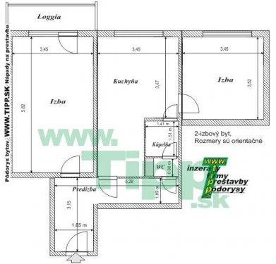 2-izbový byt 12 posch s balkonom P pôdorys.JPG
