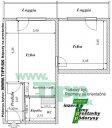 1-izbový byt 12 poschodový vežiak pôdorys P