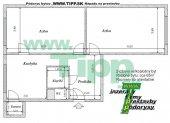 Veľkoplošný 2-izbový byt s veľkou predizbou, pôdorys 2x6MK