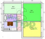 2-izbový prestavaný na 3-izbový byt pôdorys