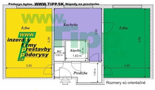 2-izbový tehlový byt, rovnaké izby pôdorys.JPG