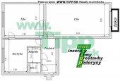 2-izbový tehlový byt s veĺkou izbou a s balkónom