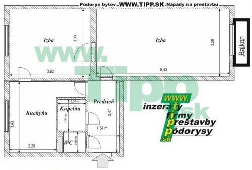 podorys-bytu-2i-balkon-tehla.JPG