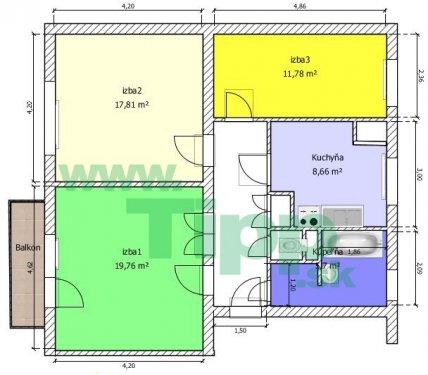 3-izbový byt svojpomocný balkon pôdorys.JPG