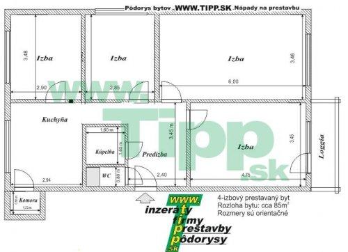 4 izbovy byt s loggiou 2x6MK pôdorys.JPG