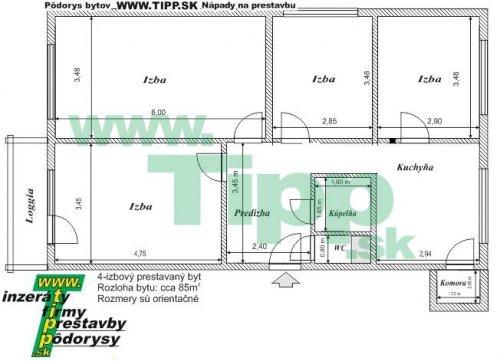 4 izbový byt s loggiouP 2x6MK pôdorys.JPG