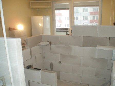 Rekonštrukcia kúpeľne - Murovanie kúpelne